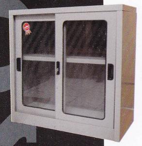 Cupboard rendah + Pintu kaca Dorong