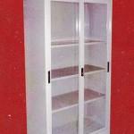 Cupboard Tinggi + Pintu Kaca Dorong