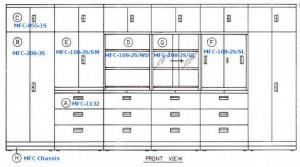 Multifile Cabinet System Alba MFC-108-2S/SL