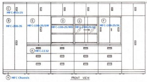 Multifile Cabinet System Alba MFC-208-3S