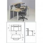 Meja Kantor Modera MRFP-1118