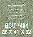 Meja Kantor Modera SCU 7481