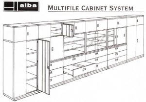 multifile cabinet system
