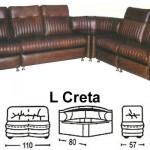 Sofa L Sentra Type L Creta