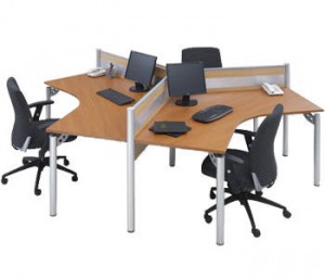 Partisi Kantor Modera Workstation 1-Series 2