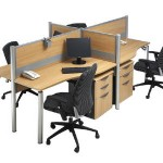Partisi Kantor Modera Workstation 1-Series 3