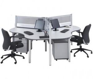 Partisi Kantor Modera Workstation 1-Series 6